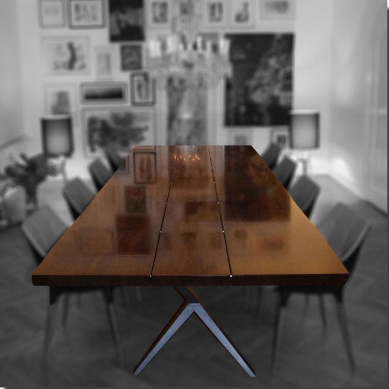 Herskabeligt & smukt spisebord af valnØd • mann design