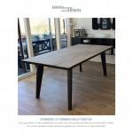 Sæbebehandlet egetræ - spisebord - plankebord - butina
