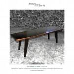 Sofabord af røget eg - Spisebord - plankebord