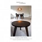 Sofabord af røget eg - Spisebord-plankebord-røgeteg