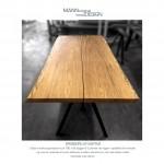 Spisebord af egetræ - plankebord af egetræ