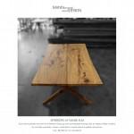 Spisebord - plankebord - Dansk elm
