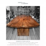 Spisebord-plankebord-Dansk elmetræ-Lemvig