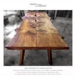 Spisebord-plankebord-Dansk elmetræ-Unikt - Bishoff