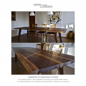 Spisebord-plankebord-amerikansk valnød Holte