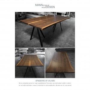 Spisebord - plankebord - amerikansk valnød - janni kopi