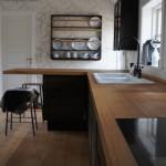 Køkkenbordplade af massiv egetræ