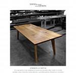 Egetræ - spisebord - plankebord -mann desig