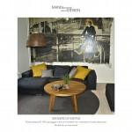 Sofabord af egetræ - Spisebord - plankebord - røgeteg