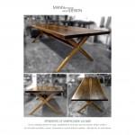 Spisebord - plankebord - amerikansk valnød - plankebord kopi