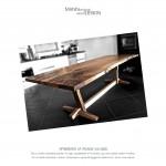 Spisebord-plankebord-iransk valnød - europæisk valnød
