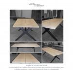 Spisebord-plankebord-natur eg - sæbebehandlet egetræ