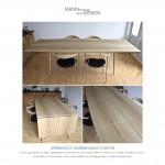 Spisebord - plankebord - sæbebehandlet eg - egetræ