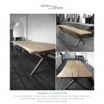 Spisebord-plankebord-sæbebehandlet natur eg - bænk af eg