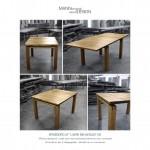 Spisebord - plankebord - tjærebehandlet