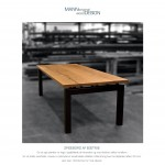 Spisebord-spisebord af eg-plankebord-plankebord