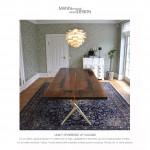 Valnød - Spisebord-plankebord-spisebord af valnød