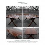 Valnød - spisebord af valnød - plankebord af valnød Helsingør
