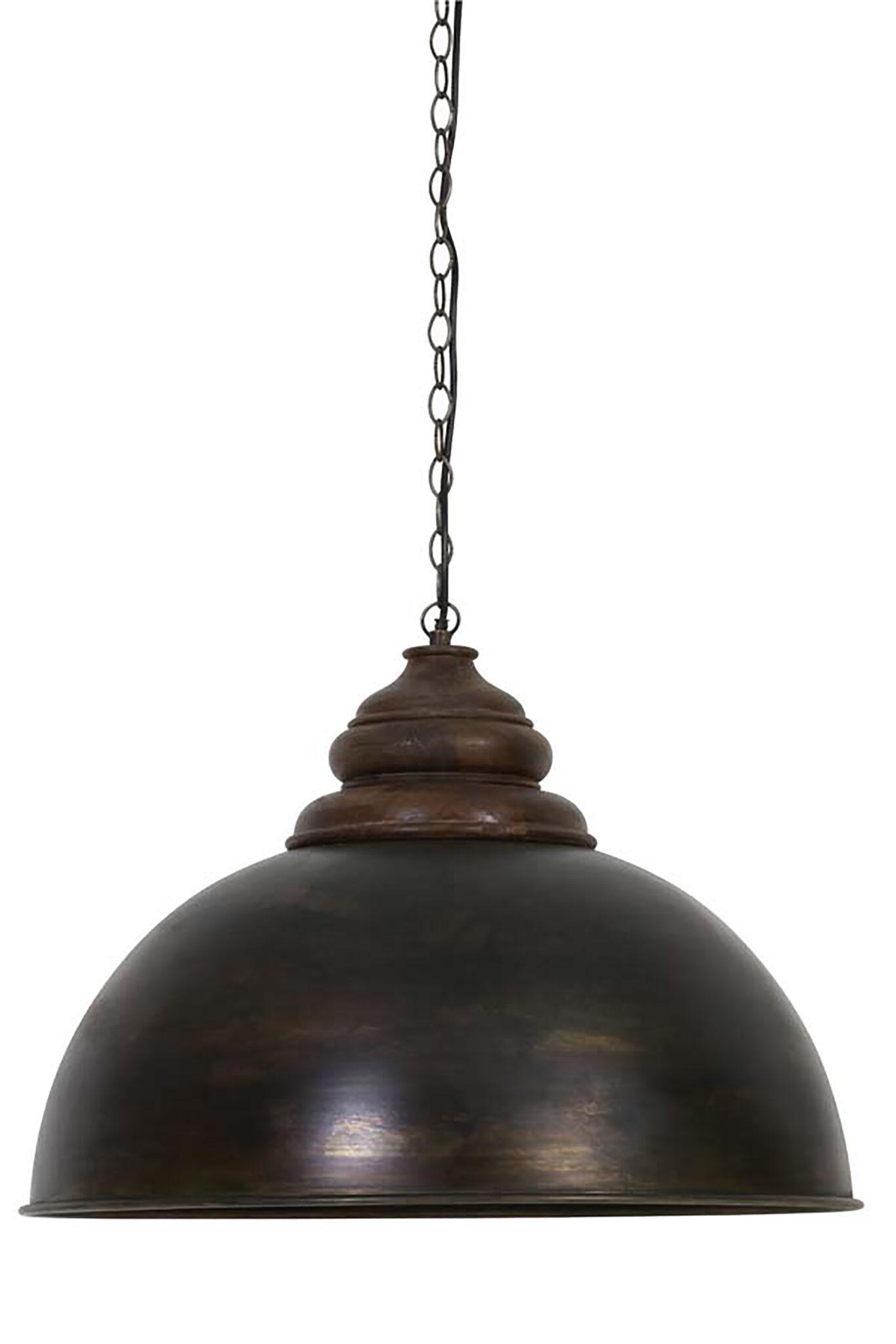 Antiq lampe med trætop