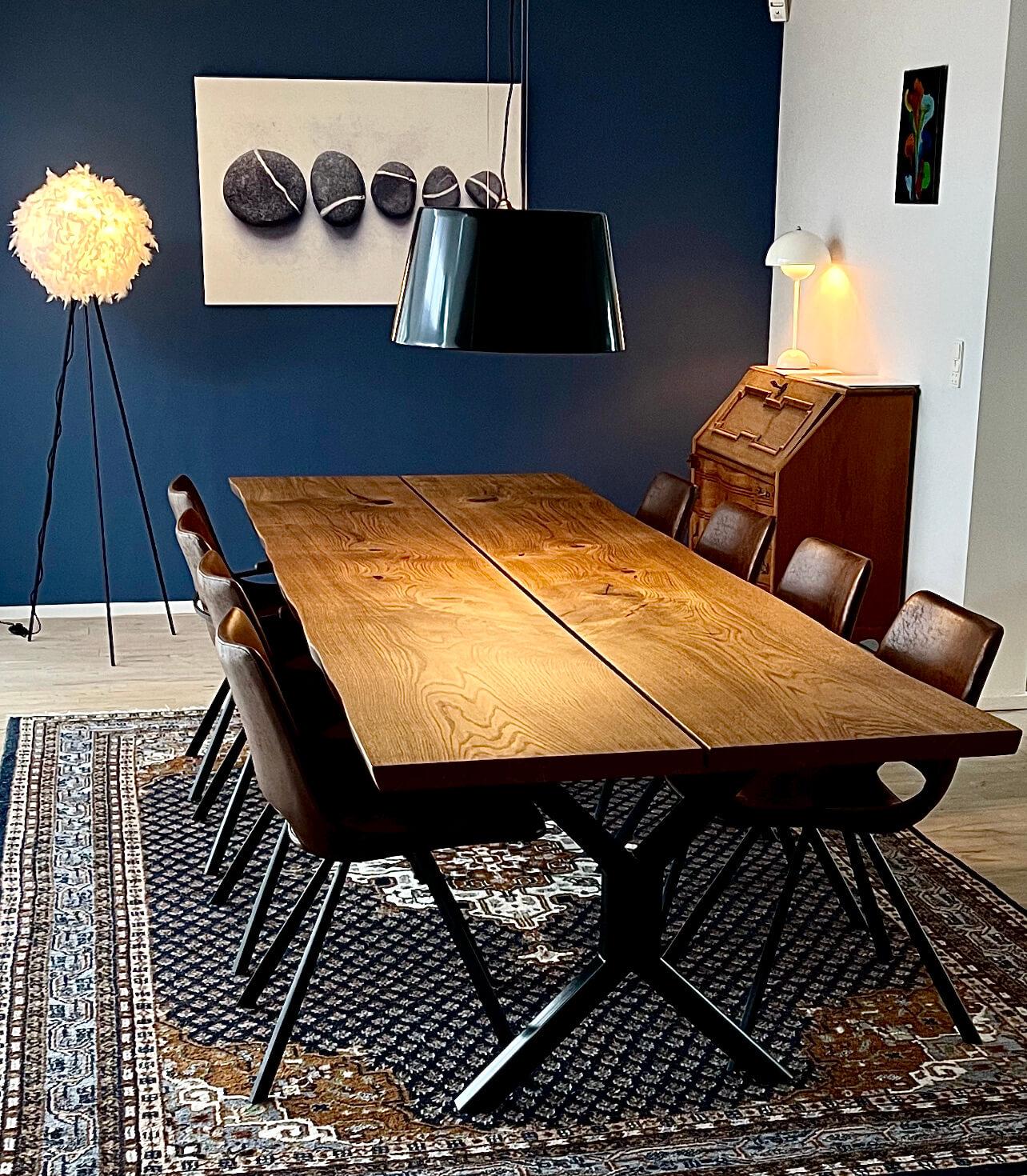 plankebord gammel dansk egetræ
